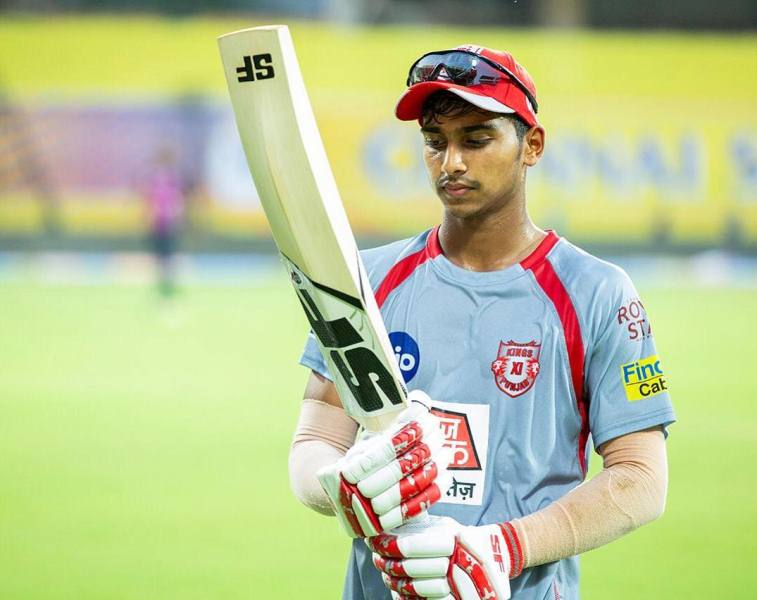 Darshan Nalkande during a practice sessions for the 2020 IPL
