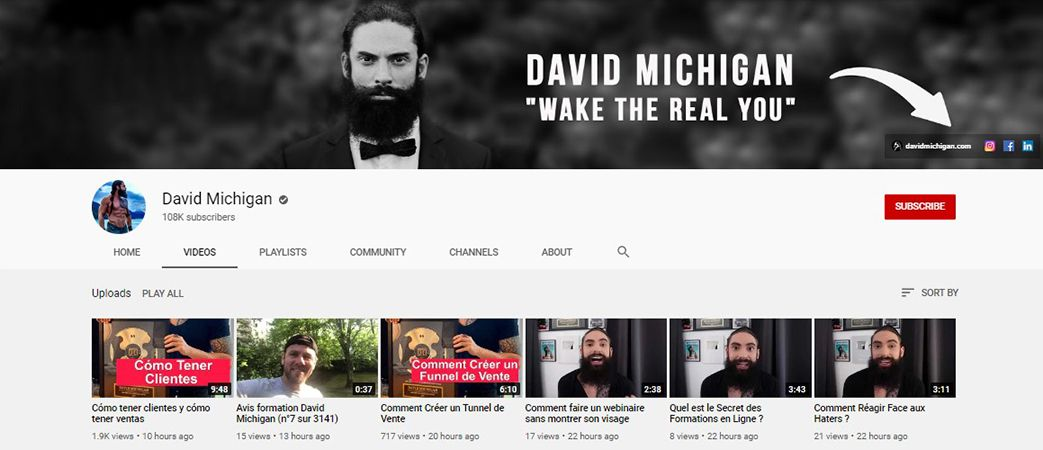 David Michigan - YouTube Channel