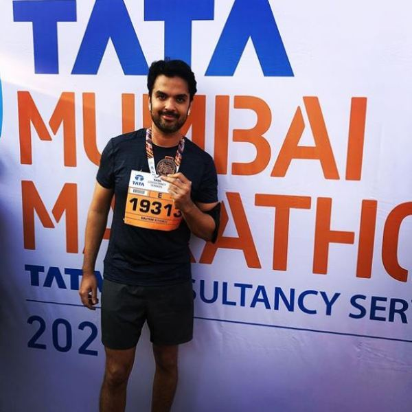 Gautam Kitchlu at Mumbai Marathon 2020
