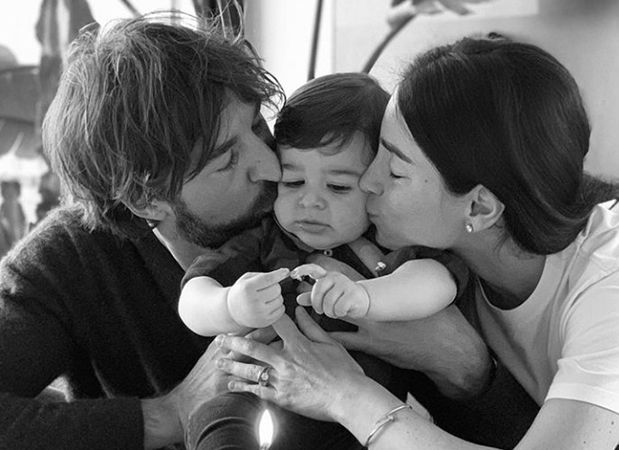 Giorgia Gabriele and Andrea Grilli with their Child