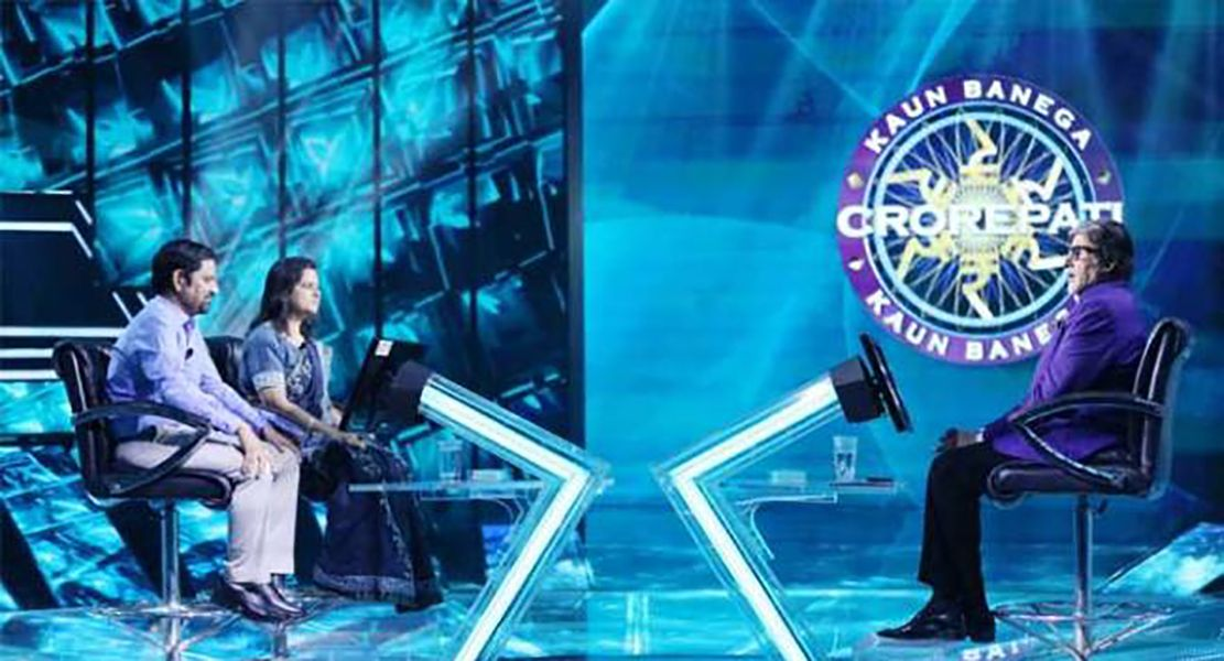 Gyanendra and Monica Purohit in Kaun Banega Crorepati