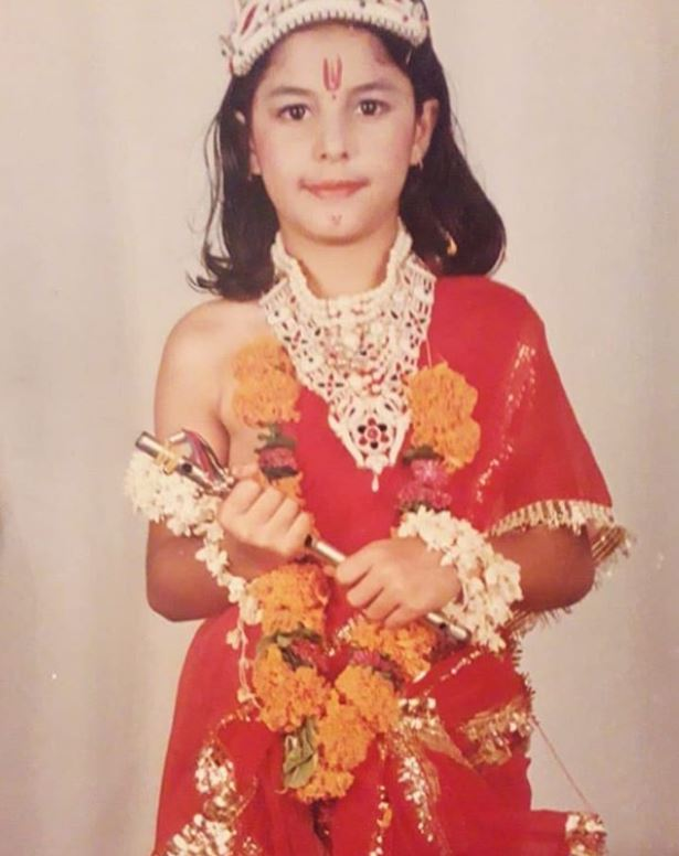 Isha Talwar in her school days