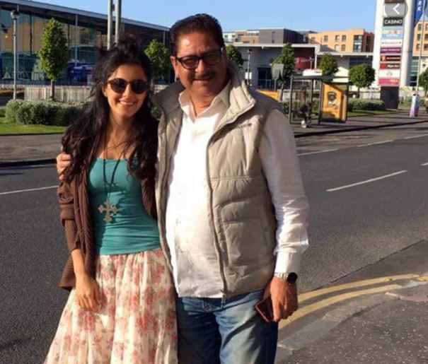 Isha Talwar with her father
