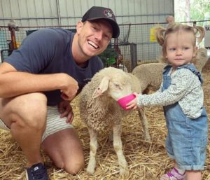 James Pattinson with his little daughter