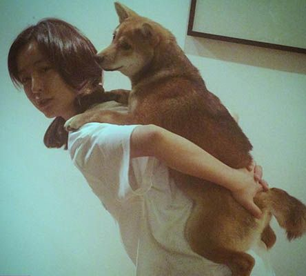 Jung Yu-mi with her Pet