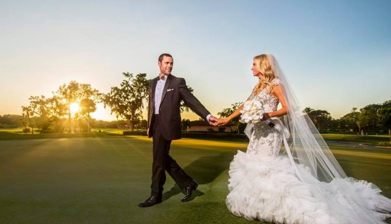 Kayleigh McEnany and Sean Gilmartin on their wedding day