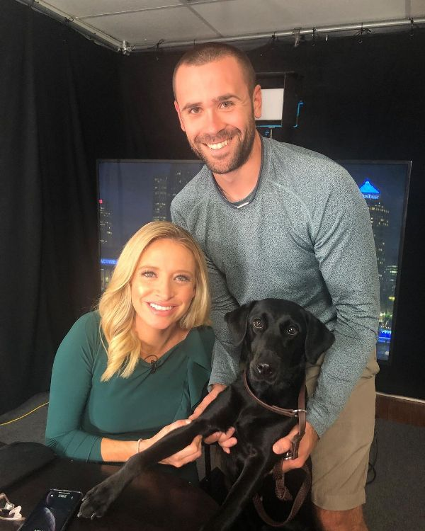 Kayleigh McEnany and her husband, Sean Gilmartin, with their pet dog, Lexi