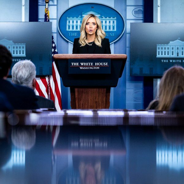 Kayleigh McEnany during a White House press briefing