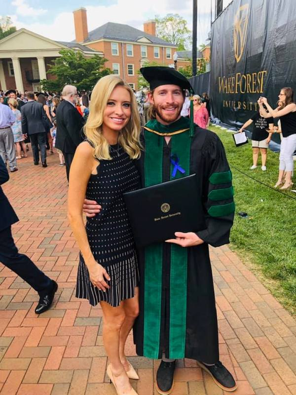 Kayleigh McEnany with her brother, Michael