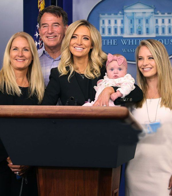 Kayleigh McEnany with her family during her maiden White House Press Conference