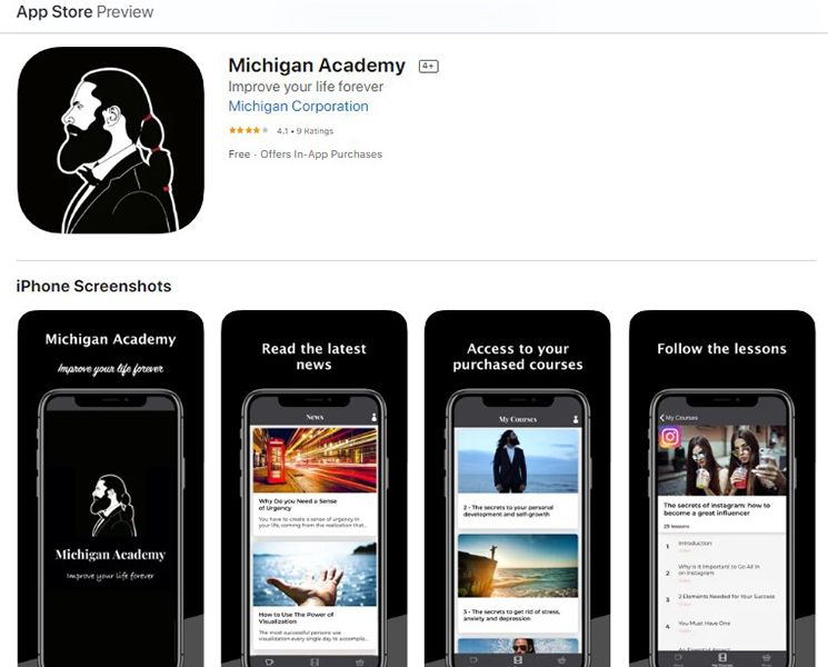 Michigan Academy App