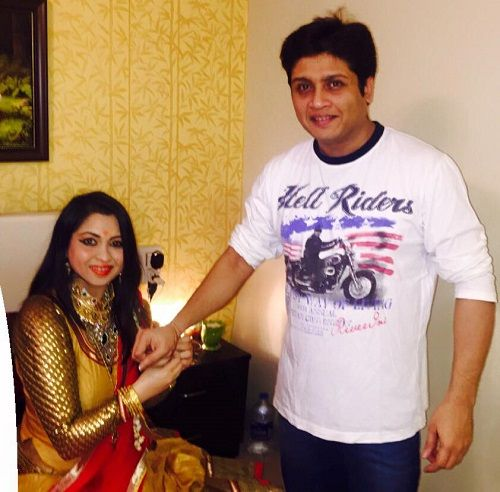 Mishti Mukerjee With Her Brother
