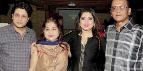 Mishti Mukerjee With Her Family