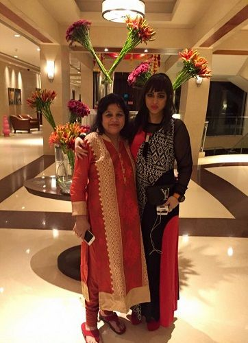 Mishti Mukerjee With Her Mother