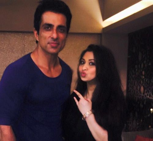 Mishti Mukerjee With Sonu Sood