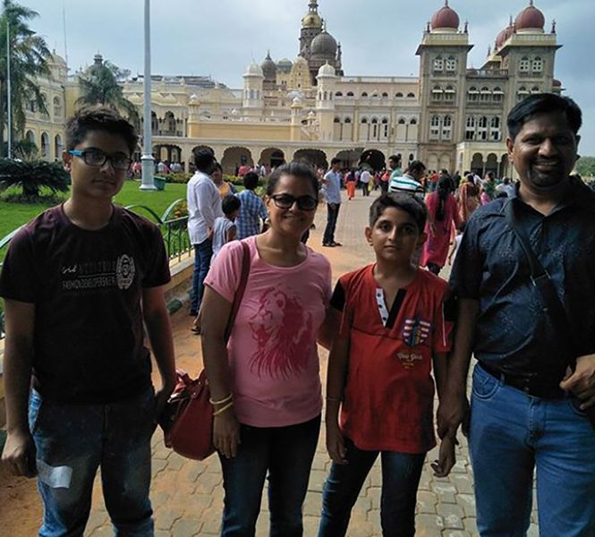 Monica Purohit with her Family