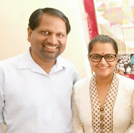 Monica Purohit with her Husband