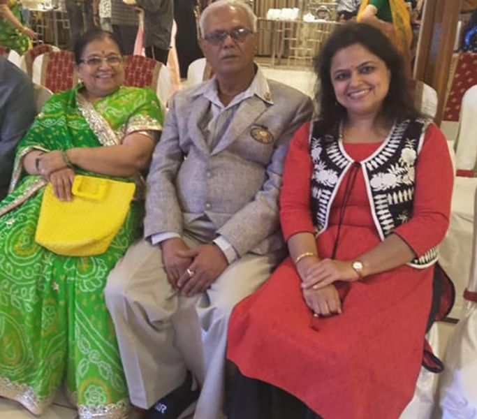 Monica Purohit with her Parents