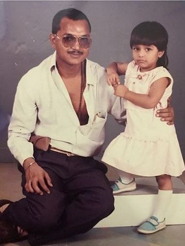 Nidhi Moony Singh's Childhood Picture With Her Father