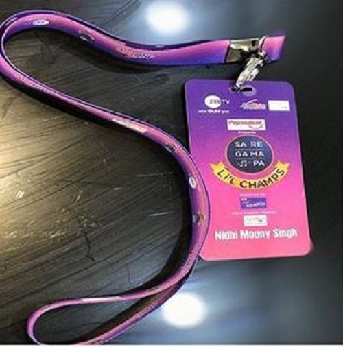 Nidhi Moony Singh's ID Card of the TV Show Sa Re Ga Ma Pa