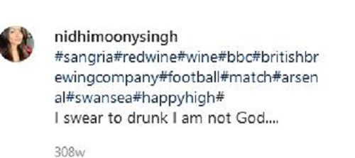 Nidhi Moony Singh's Instagram Post