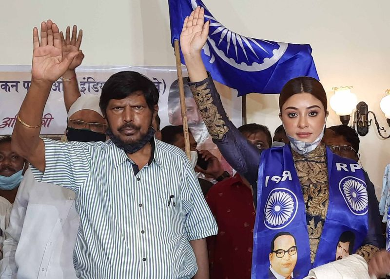 Payal Ghosh joining the Republican Party of India (Athawale)