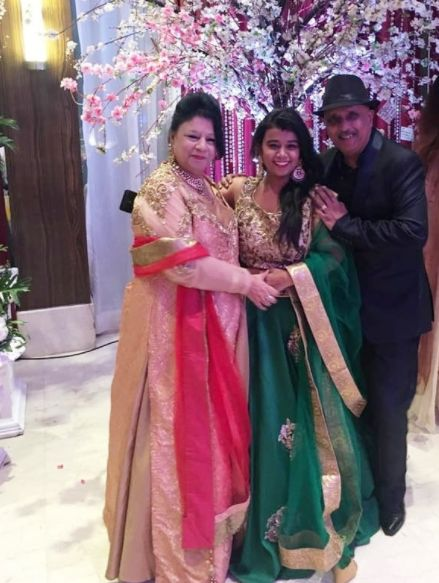 Rajesh Puri with his family