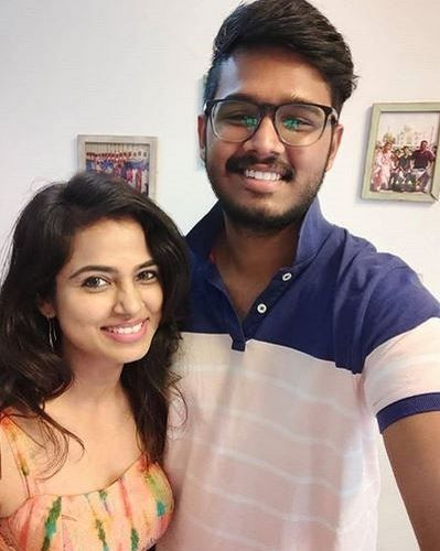 Ramya Pandian With Her Brother