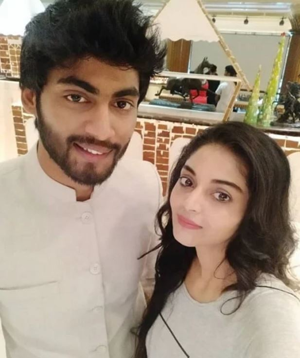 Sanam Shetty with her ex-boyfriend