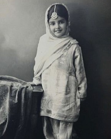 Sara Gurpal in childhood