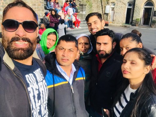 Shaji Choudhary with his family on a trip