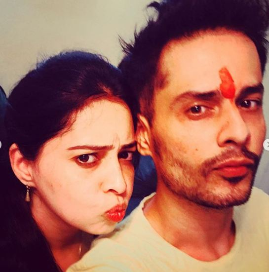 Shardul Pandit and his sister