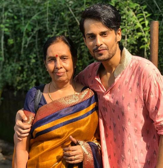 Shardul Pandit with his mother