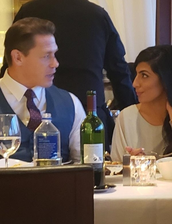 Shay and John Cena spotted at a dinner date