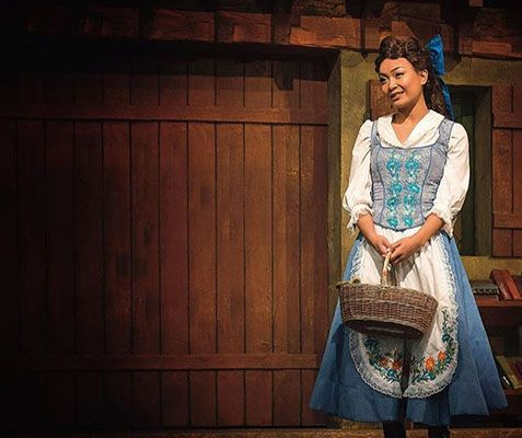 Stephanie Sy as 'Belle' in the play 'Beauty and the Beast'