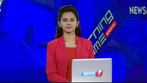 Anitha Sampath in News 7 Tamil