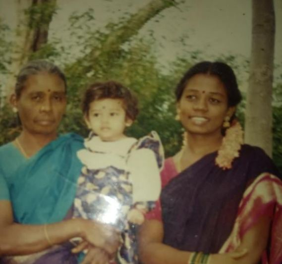 Anitha Sampath in childhood