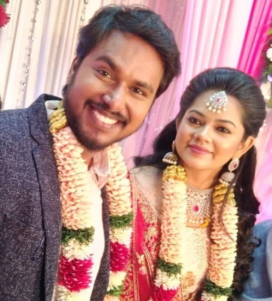 Anitha Sampath's wedding picture