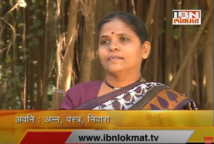 Anuradha Bhosle in News18 Lokmat's 'Great Bhet' (2014)