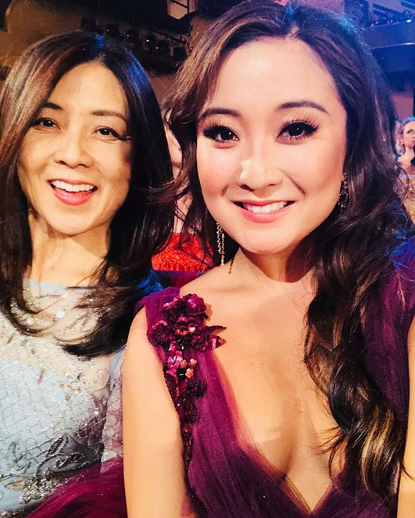 Ashley Park with her mother