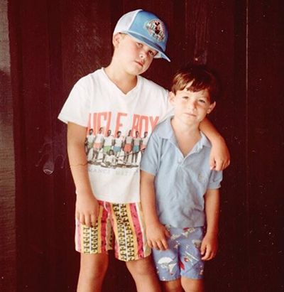 Childhood Picture of Colin Jost with his Brother