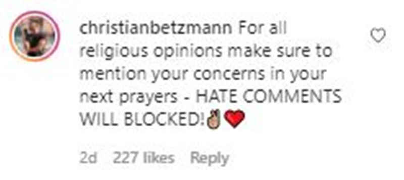 Christian Betzmann's reply to the Pakistani hate comments