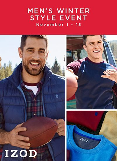 Colin Jost and Aaron Rodgers in an Advertisement for Izod