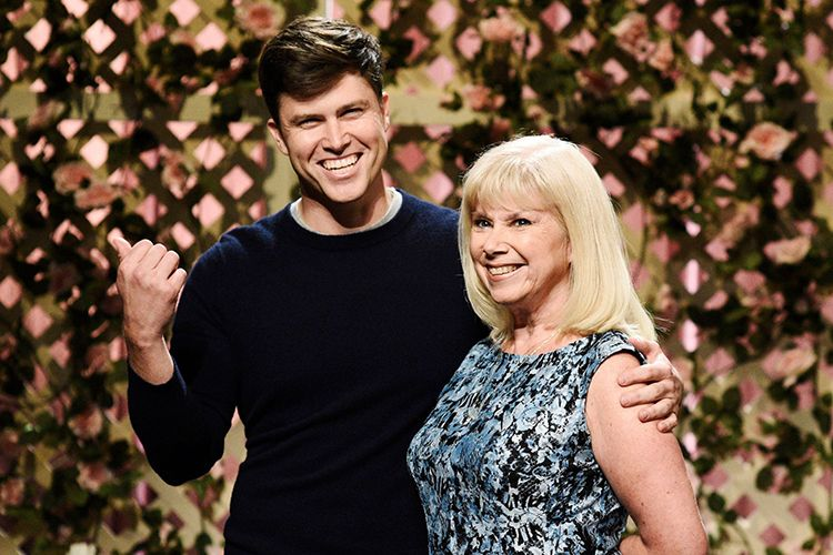 Colin Jost with his Mother