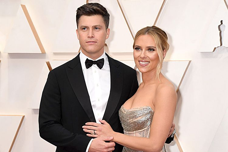 Colin Jost with his Wife