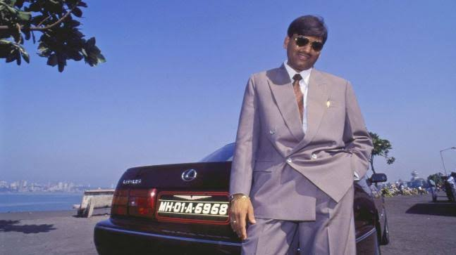 Harshad Mehta with his Toyota Lexus