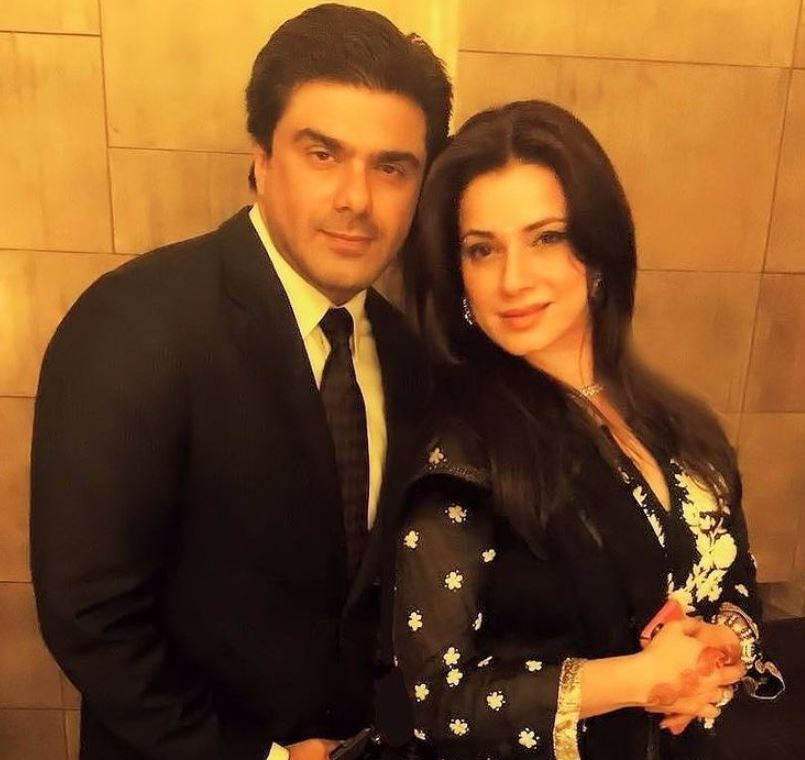 Neelam Kothari and her husband
