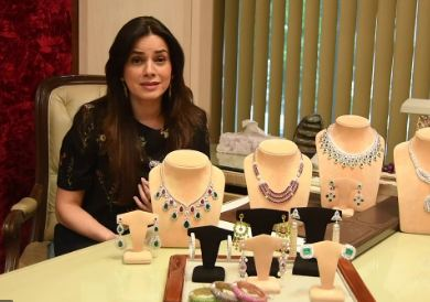 Neelam Kothari with her Jewellery Designs
