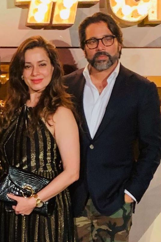 Neelam Kothari with her brother