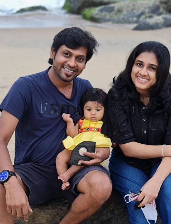 Rio Raj with his wife and daughter
